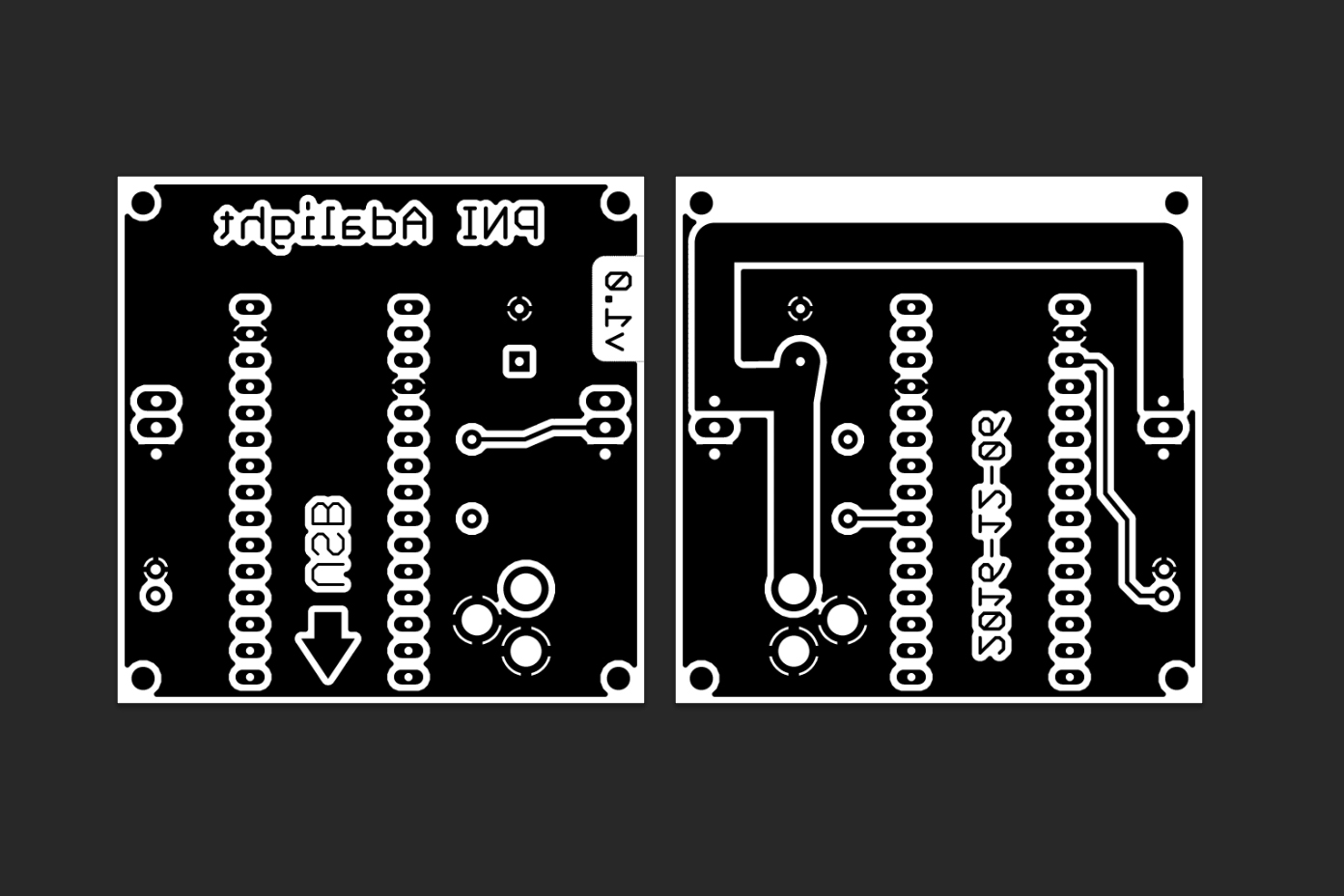 Making A Custom Pcb And Case For Adalight Parts Not Included Etching Printed Circuit Boards At Home Copies Of The Black White Composites Were Arranged To Fit On Standard 85 X 11 Sheet Scale Then High Quality Glossy Paper
