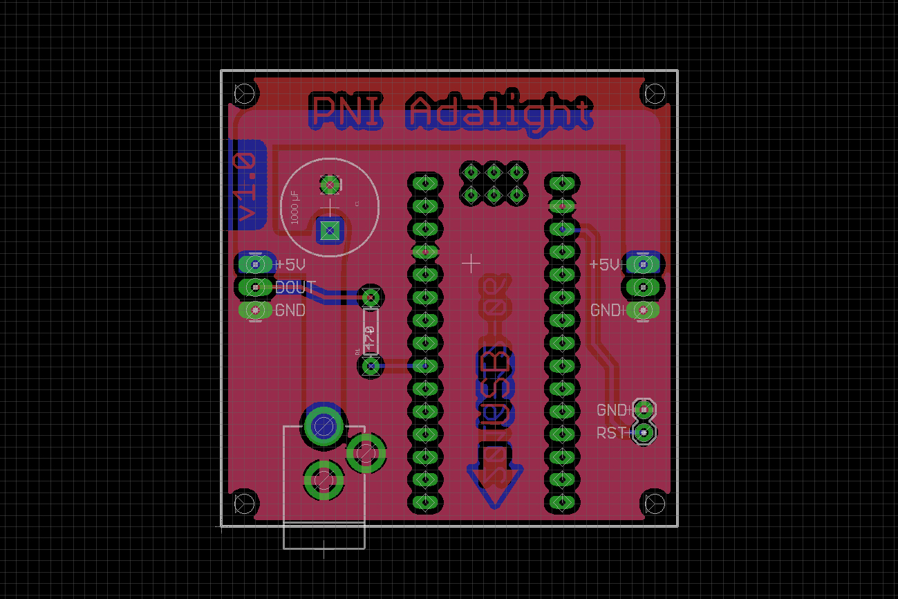 Making A Custom Pcb And Case For Adalight Parts Not Included Eagle Cad Controller Schematic Display Any The Place To Start Is With Your Limitations That Say Figure Out What You Have Do Build From There This I Knew