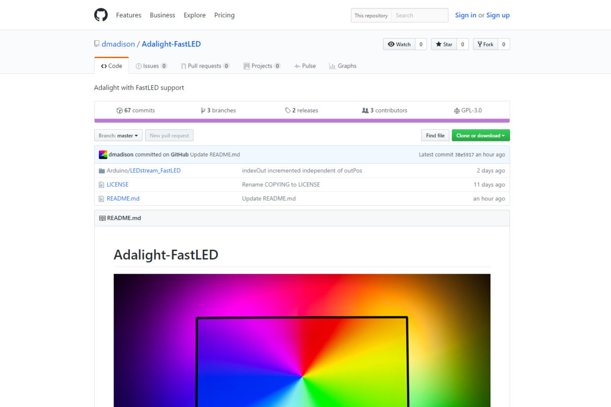Adalight with FastLED