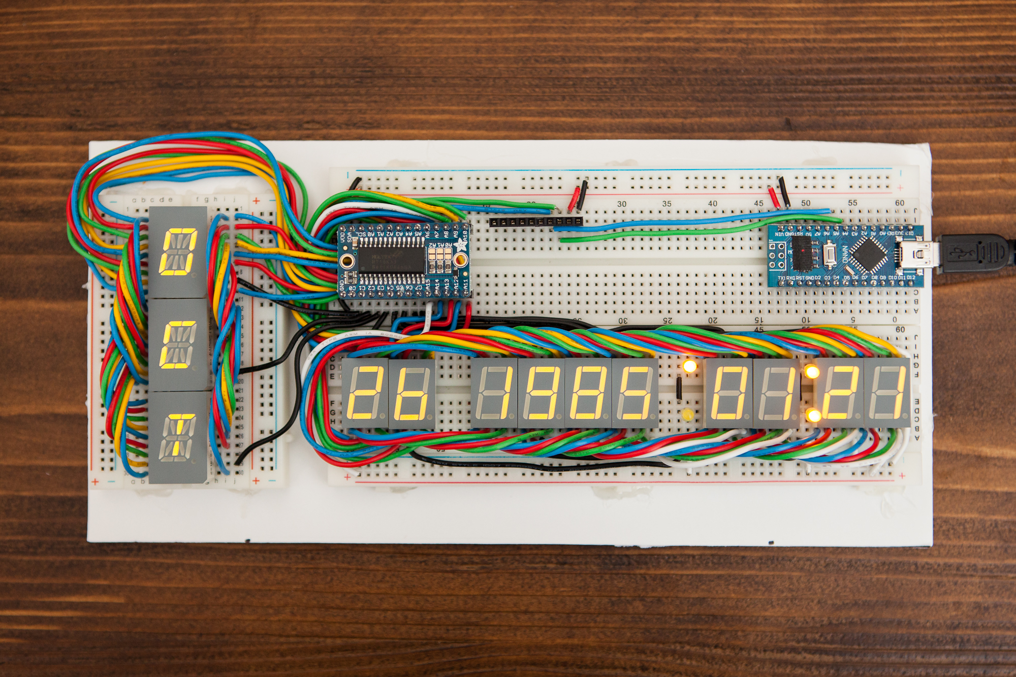 Making A Time Circuit Display Schematic Parts Not Included On Breadboard Working Copy Of The If Possible So Thats Exactly What I Did Remember Prototype V00 Its To Give It An Upgrade