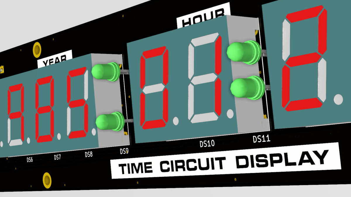 Designing the Time Circuit Display PCB