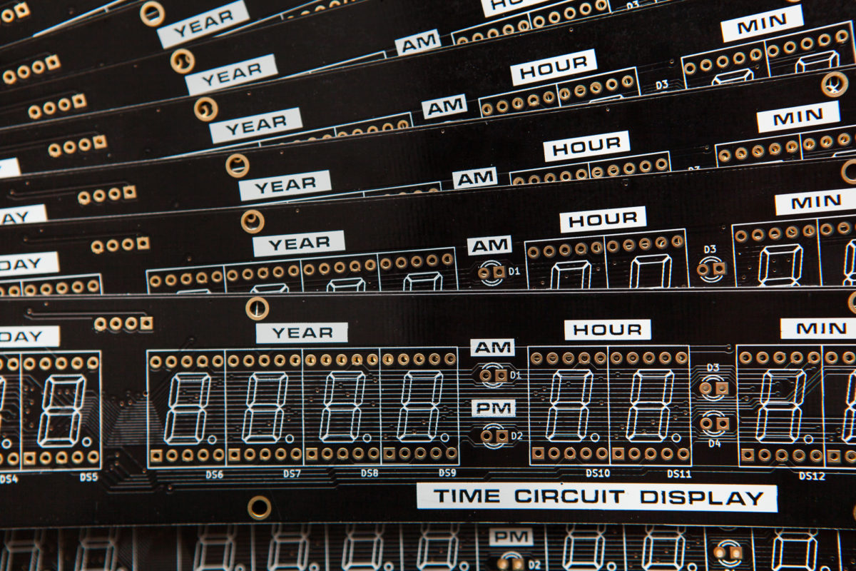 Assembling Time Circuit Display PCBs