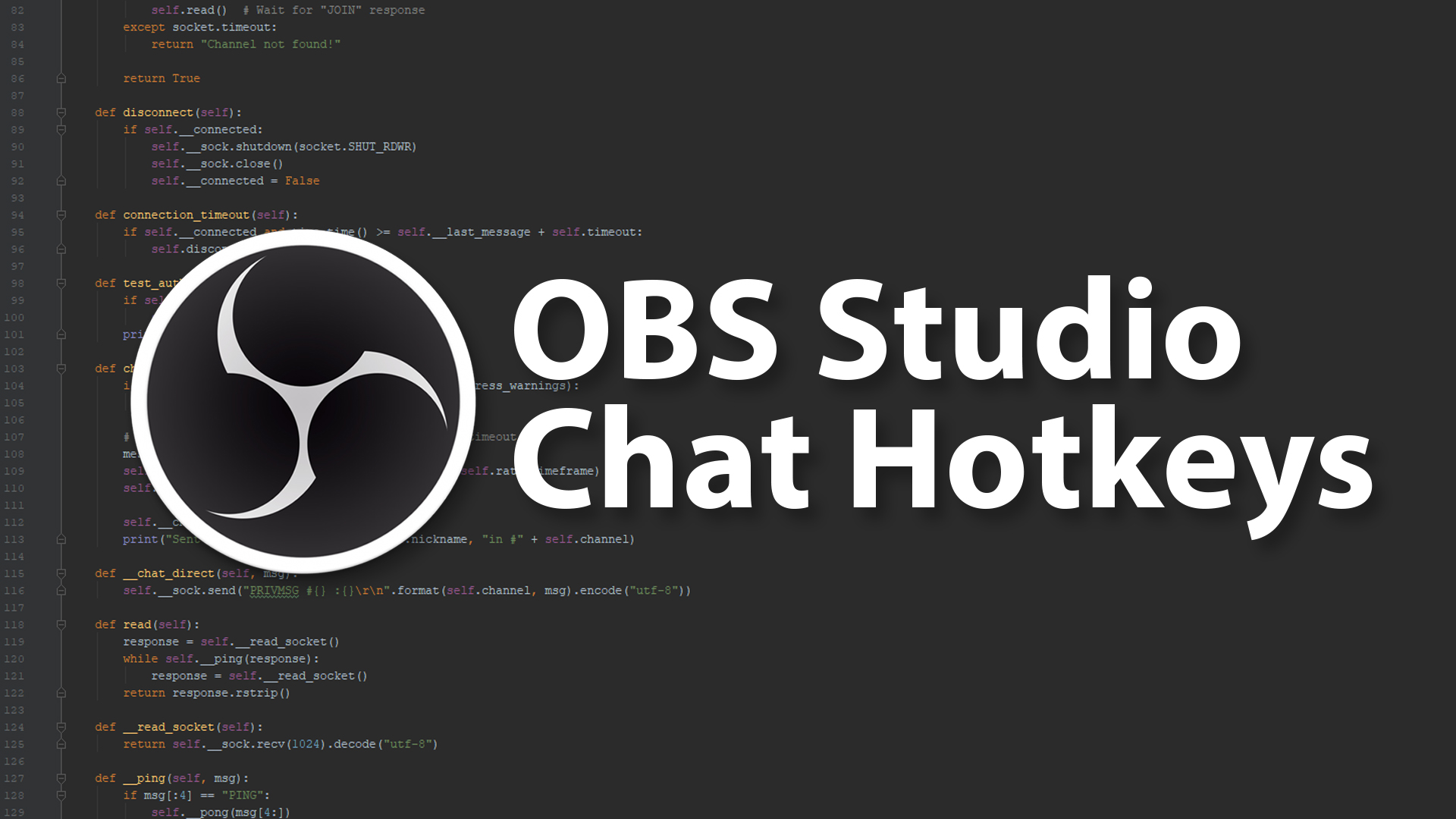 OBS Studio Chat Hotkey Script