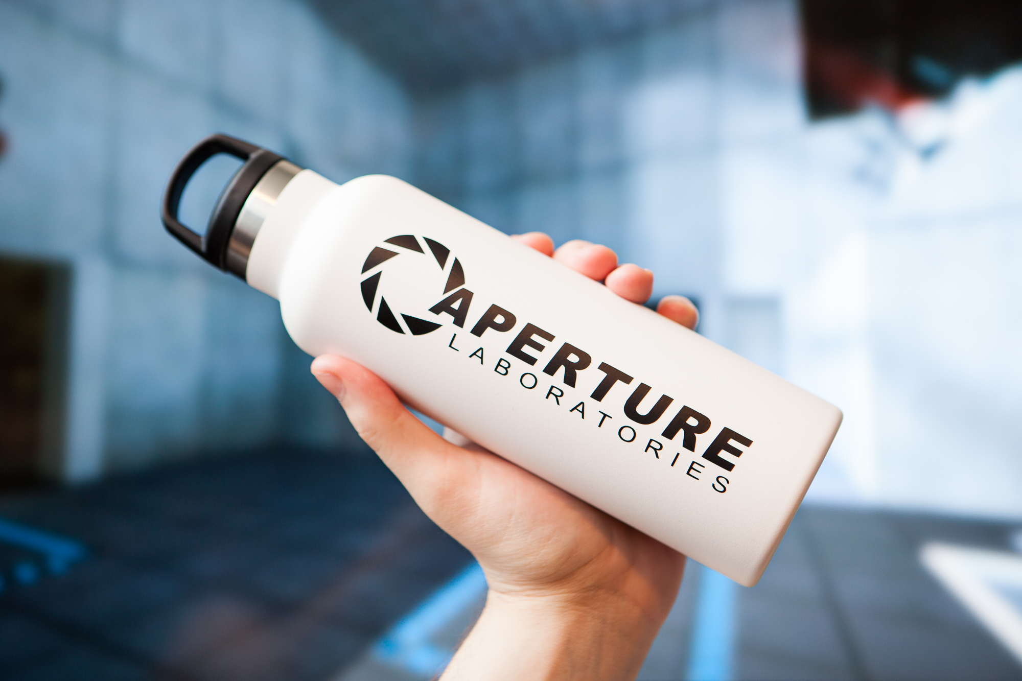 "DIY Aperture Science ""Dihydrogen Monoxide"" Water Bottle"