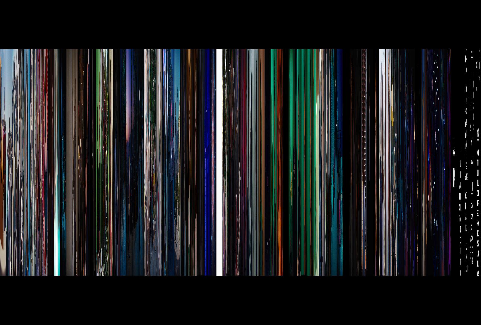 La La Land, 80 frames at 20 pixels wide each