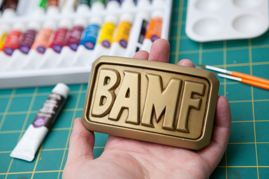 McCree's Belt Buckle: Mounting and Paint