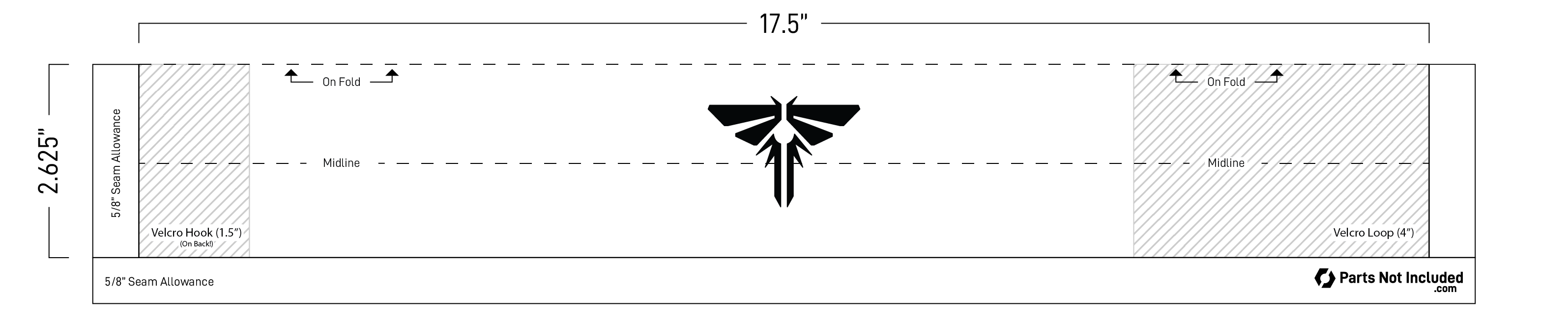 Sewing pattern for The Last of Us Firefly armband